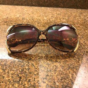 New Oversized Animal Print Sunglasses